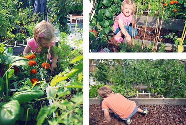 Floriskes kinderen aan het werk in hun eigen vakken