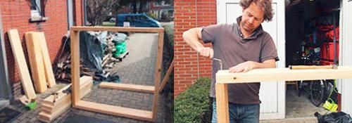 Makkelijke Moestuinbakken maken van stevig hout