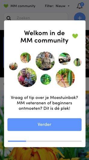 Makkelijke Moestuin community in de app