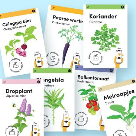 Alle nieuwe zaden van de Makkelijke Moestuin staan vanaf nu in de app